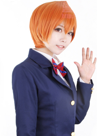 Love Live Hoshizora Rin Orange Cosplay Wig 30cm SP152880 - SpreePicky  - 2