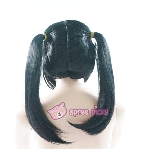 Love Live Niconiconi Asymmetric Pig Tails Cosplay Wig with Bangs 35cm SP151721 - SpreePicky  - 5