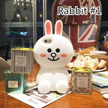Load image into Gallery viewer, Rabbit/Bear/Duck Silica Gel Phone Case SP165692 - SpreePicky FreeShipping