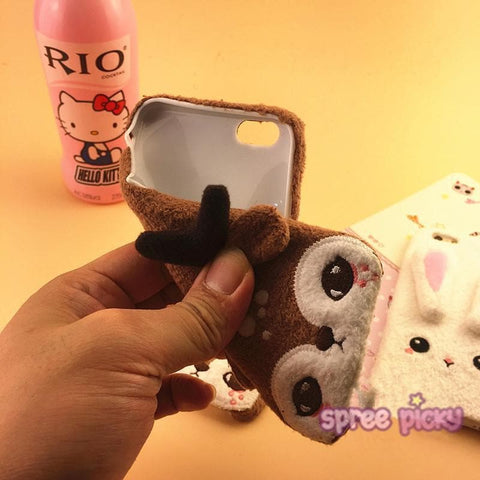 Lovely Plush Animal Phone Case For Iphone SP165063