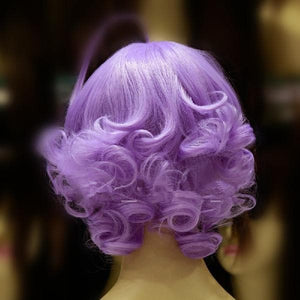 [Lulu, The Flower Angel] Magical Angel Creamy Mami Lavender Short Curly Wig SP165035
