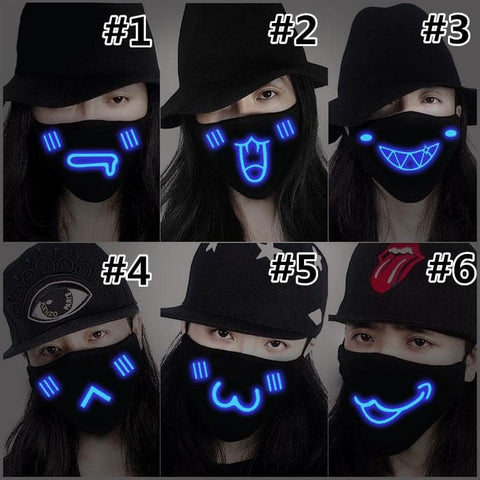 Glow In Dark Emoji Cotton Mask SP166984