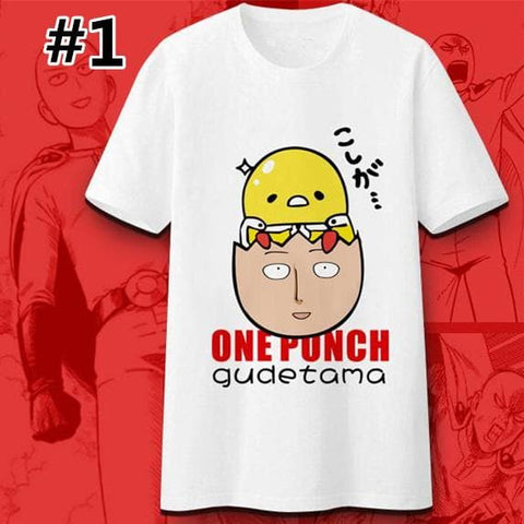 M-3XL One Punch Gudetama Tee Shirt SP167094