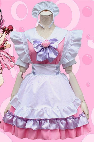 M-L Pinky Candy Neko Cat Maid Dress Cosplay Costume SP153589 - SpreePicky