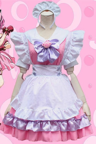 M-L Pinky Candy Neko Cat Maid Dress  Cosplay Costume SP153589 - SpreePicky  - 3