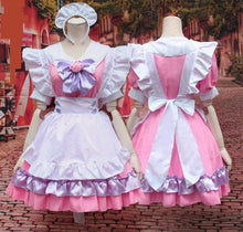 Load image into Gallery viewer, M-L Pinky Candy Neko Cat Maid Dress  Cosplay Costume SP153589 - SpreePicky  - 4