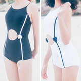 M-XL White/Black Jashion Hallow Swim Suit SP167518