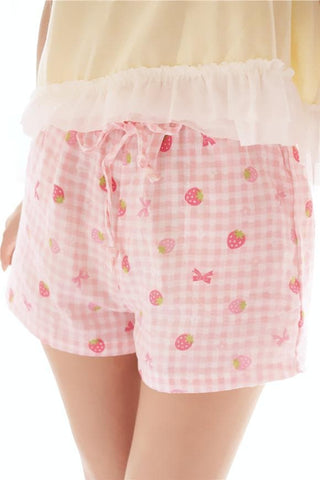 M-XL Cute Strawberry Bloomer shorts SP166400