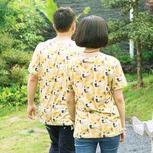 M/L/XL Creative Dog Short Sleeve Couples T-Shirt SP166297