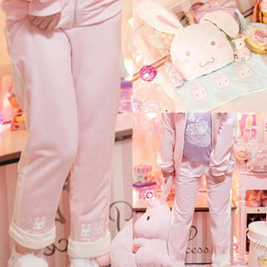 M/L Pink/Mint Bunny Sports Pants SP153095 - SpreePicky  - 4