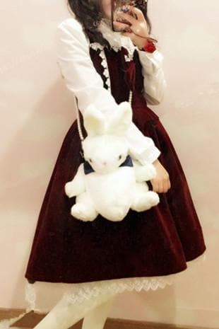 M/L Wine Lolita Demitoilet JSK Dress SP164767 - SpreePicky  - 4