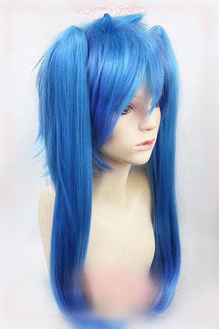 [Mekaku City Actors] Deep Ocean Blue Cosplay Wig with Pony Tails SP165674