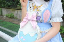 Load image into Gallery viewer, Milk White Kawaii Bottle Bowknot Shoulder Bag SP166763