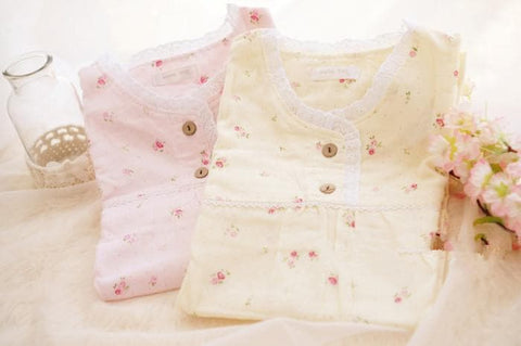 Mori Girl Pastel Floral Home Wear Pajamas Dress SP164916 - SpreePicky  - 6