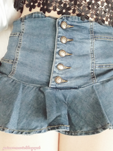 Load image into Gallery viewer, S/M/L My Ruffle Mini Denim Pant-Skirt SP152217 - SpreePicky  - 5