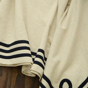 Navy/Beige Simple Sailor Loose Cape Coat SP153451 - SpreePicky  - 11