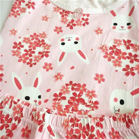 Navy/Pink Sakura Rabbit Pajamas SP166875