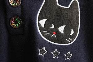 Navy/Red/Grey Sweet Girl Cutie Cat Cape Coat SP153479 - SpreePicky  - 9