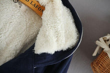 Load image into Gallery viewer, Navy Flaace Hoodie Winter Coat SP154290 - SpreePicky  - 7