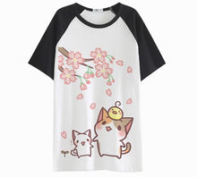 Load image into Gallery viewer, Neko Atsume S-2XL  Kawaii Neko Cat T-Shirt SP166131