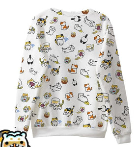 [Neko Atsume] S-3XL So Many Cats On My Top Jumper SP165056