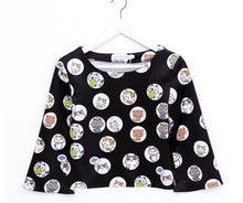 Load image into Gallery viewer, [Neko Atsume] S/M/L Black Neko Cat Top and Skirt Set SP166438
