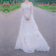 Load image into Gallery viewer, Off-Shoulder Dreamy Princess Long Dress SP179413