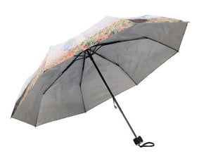 Oil Painting Series Elegant Woman Sun-Rain 3 Fold Umbrella SP153339 - SpreePicky  - 4