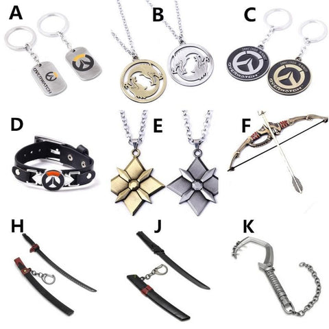 Overwatch Badge Key Chain Necklace Pendant SP168051