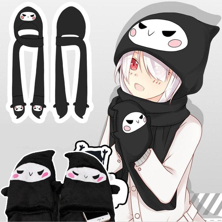 Overwatch Reaper Cute One Piece Hat-Scarf-Gloves SP168625 - SpreePicky 01bcc8bb8443