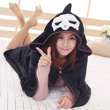 Load image into Gallery viewer, Overwatch Reaper Hoodie Cape Poncho Cloak SP179168