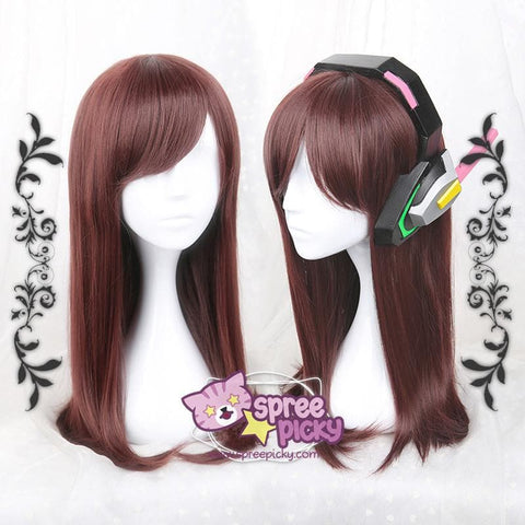 Overwathc D.VA Song Hab Na Dark Brown Wig SP168184