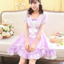 Load image into Gallery viewer, Pasetl Purple Lolita Sailor Dress SP152926 - SpreePicky  - 2