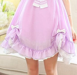Pasetl Purple Lolita Sailor Dress SP152926 - SpreePicky  - 4