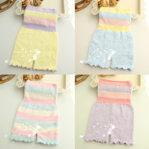 Pastel Fleece High Waist Warming Shorts SP164918