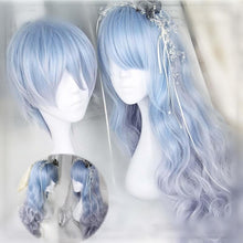 Load image into Gallery viewer, Lolita Harajuku Pastel Ocean Blue Wig SP167798