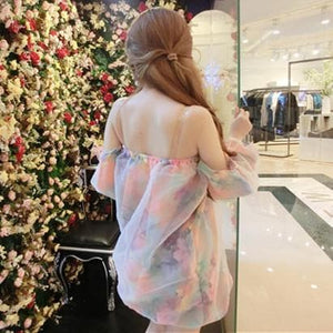 Pastel Off-Shoulder Floral Dress SP179316