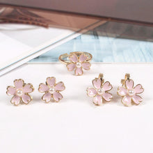 Load image into Gallery viewer, Pastel Sakura Blossom Ring/Earrings SP179434