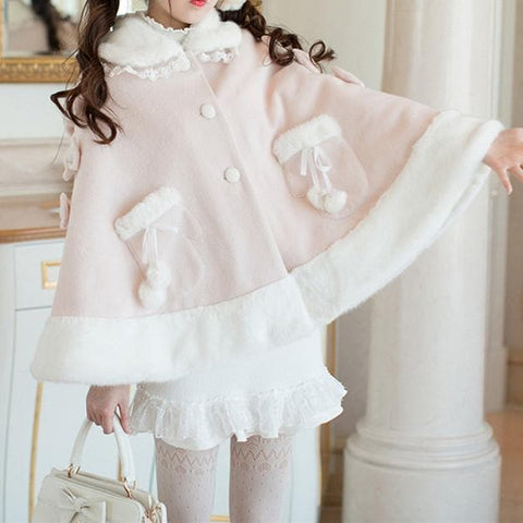 Pastel Winter Fairy Poncho Cape SP1711472