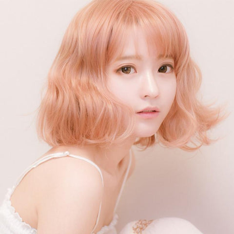 Peach Orange Bobo Short Wig SP164773