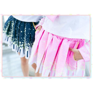 Piano and Stars Pleated Skirt Only with Pocket SP130211 - SpreePicky  - 2
