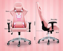 Load image into Gallery viewer, Pink/Black/Green Overwatch D.VA Bunny Gaming Chair SP1812340