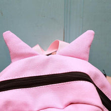 Load image into Gallery viewer, Pink/Black/Grey Kawaii Neko Cat Backpack With Tail SP166834