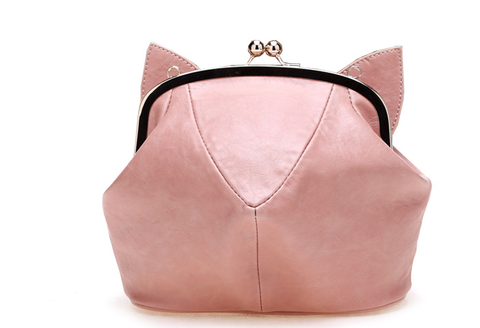 Pink/Black Cute kitten Mini Shoulder Bag SP152949 - SpreePicky  - 3