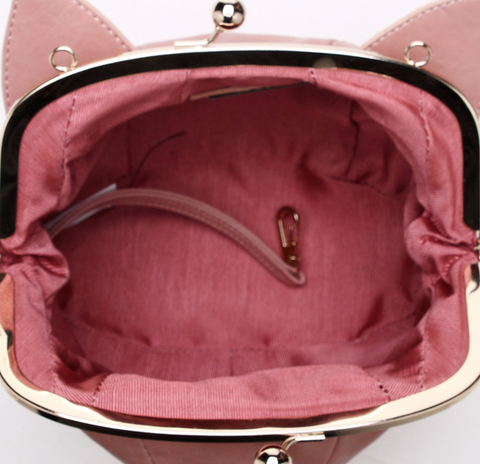Pink/Black Cute kitten Mini Shoulder Bag SP152949 - SpreePicky  - 7