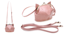 Load image into Gallery viewer, Pink/Black Cute kitten Mini Shoulder Bag SP152949 - SpreePicky  - 5