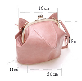 Pink/Black Cute kitten Mini Shoulder Bag SP152949 - SpreePicky  - 6