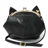 Pink/Black Cute kitten Mini Shoulder Bag SP152949 - SpreePicky  - 2