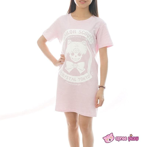 Pink/Black Joking Sailor Moon Sailor Skull T-shirt SP152028 - SpreePicky  - 2