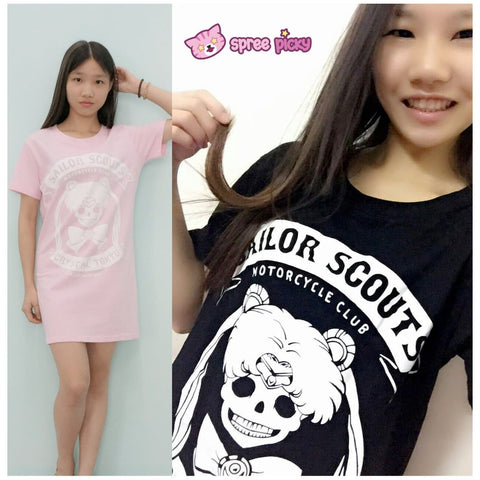 Pink/Black Joking Sailor Moon Sailor Skull T-shirt SP152028